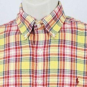Ralph Lauren Classic Fit Mens Flannel Shirt Medium